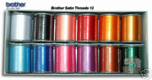 Brother Embroidery Machine Threads BOX OF 12 B242